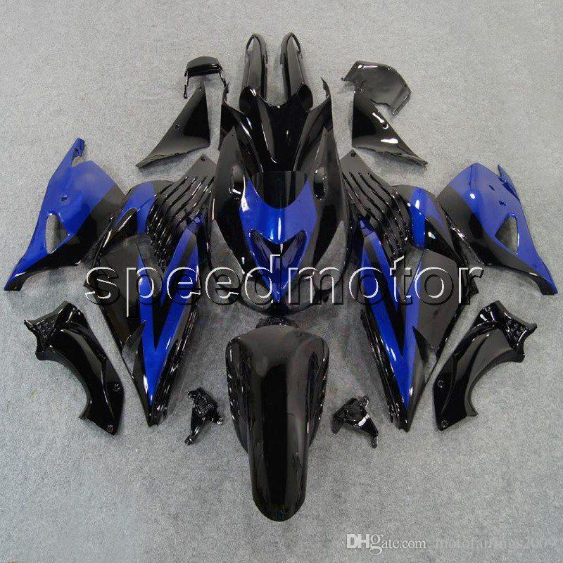23colors+Gifts Injection mold blue flames motorcycle Fairing for Kawasaki ZX14R 2006 2007 2008 2009 2010 2011 ZX-14R ABS plastic kit