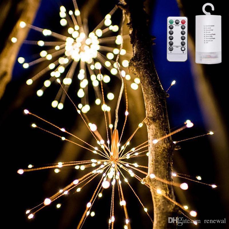 DIY Foldable 꽃다발 모양은 끈 빛 불꽃 놀이 화환 안뜰 결혼식을 위한 건전지에 의하여 운영한 장식적인 요정 크리스마스 조명을 지도했습니다