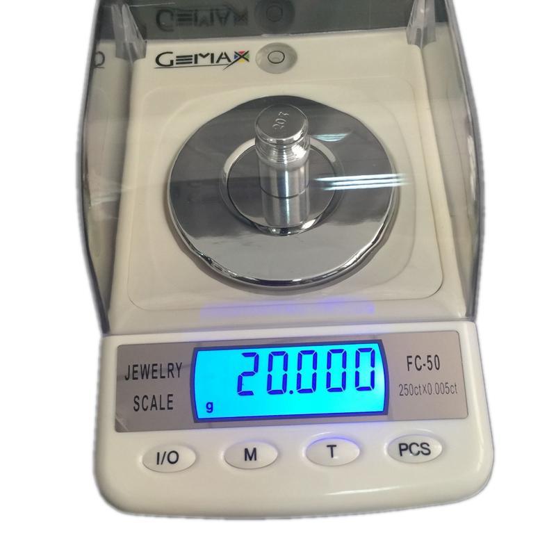 Freeshipping 50g 0.001g Jewelry Diamond Gem Carat Digital Electronic Scales Portable High Precision Counting Laboratory Balance 6units FC-50