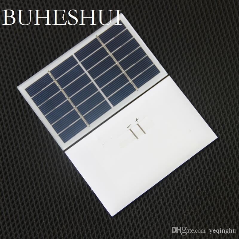Buheshi 1 واط 6 فولت الشمسية خلية زجاجية مغلفة الكريستالات الشمسية لوحة وحدة diy الشمسية شاحن 115 * 70 ملليمتر 10 قطع الشحن مجانا