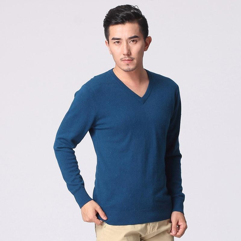 2019 Sweater Male 2019 V Collar Pullover Business Casual Knit Cashmere  Sweater Men\u0027S Shirt From Sjw88, $20.72