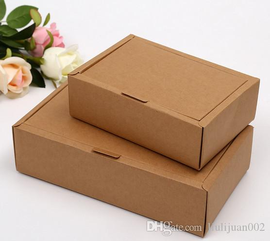 Factory outlets can be printed logo Kraft paper Packing boxes Clamshell Paper box free shipping 18*13*3cm