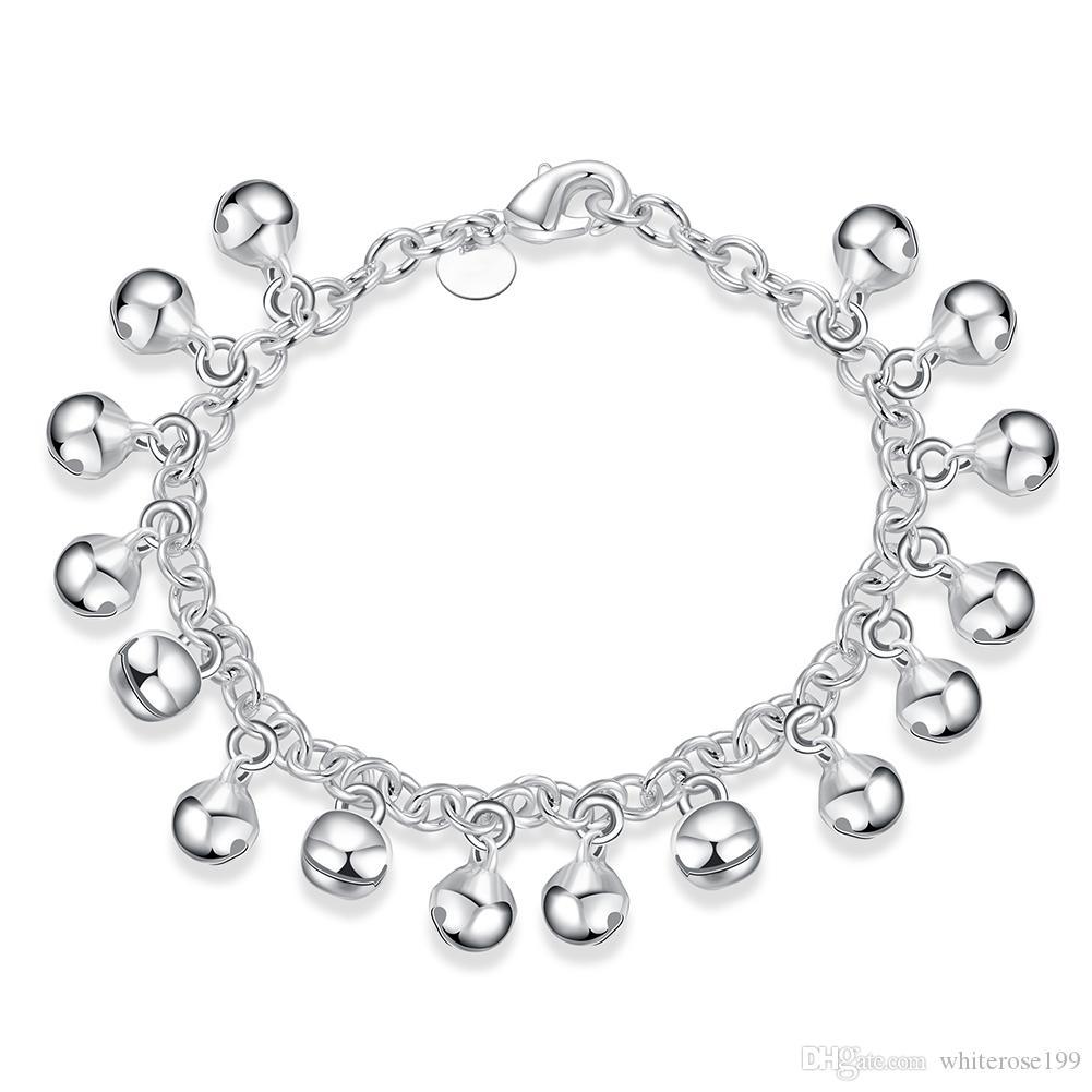 925 Silber (M) Mädchen Baby Mutter Geschenk Jingle Armband Ball Silber Kette Armband H056