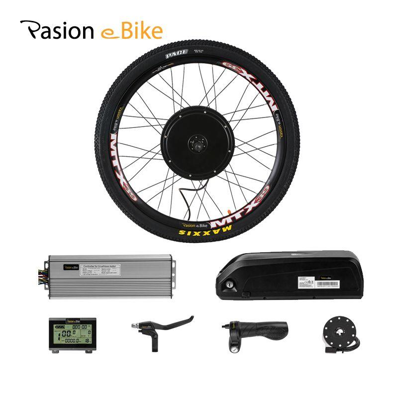 wholesale Conversion Kits With Battery 48V 1500W Hub Motor Rear Wheel Motor Electric Bike Kit 52V 12.8AH E Bike Battery