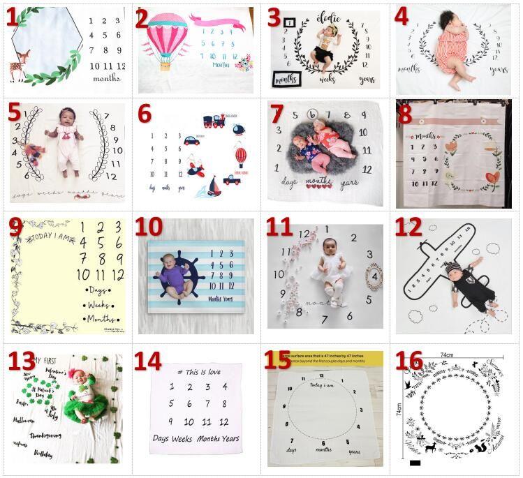 2018 INS детские одеяла зима теплая хлопок одеяла младенческой пеленание письмо цветок цифровой детские простыни спальный мешок 100*100 см