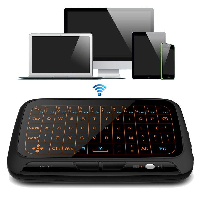 2.4G Wireless Full Touchpad Mini Keyboard Gaming Backlight Air Mouse Remote Control For Windows/Android/Smart TV Box/Xbox/PC