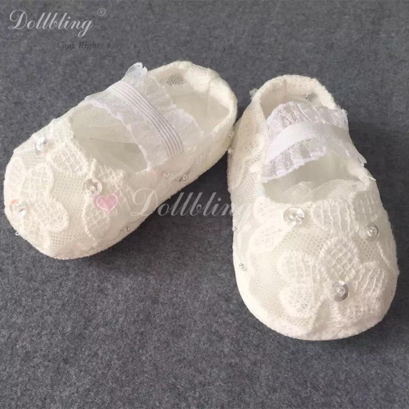 Lace Korean Hat Match Baptism Designer Custom Made Kindergarten Elegance Baby Pram Shoes Diamond Satin Infant First Walkers