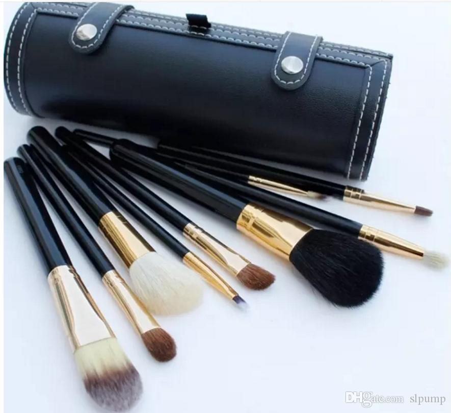 9Pcs Set Kit Makeup Brushes Travel Beauty Professional Wood Handle Foundation Lips Cosmetics Makeup Brush with Holder Cup Case