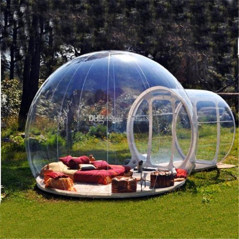 Free Shipping Inflatable Bubble Tent House, Sunshine Hotel,Bubble House Outdoor Camping Tent House,Dome Outdoor Clear Show Room