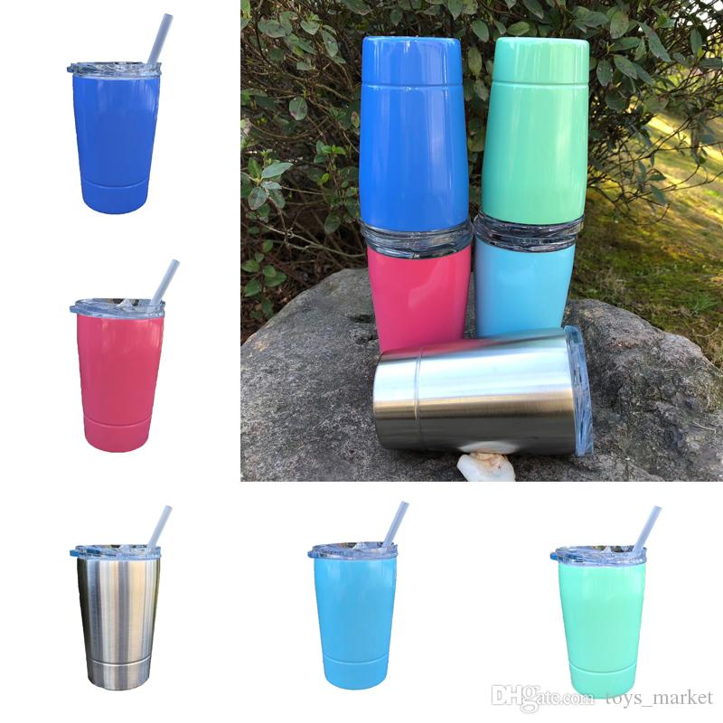 12oz Vacuum Insulated Double Wall Stainless Steel Wine Glass 12oz with lid with Straw Kid Cup Coffee Mugs Flask kitchen IN STOCK