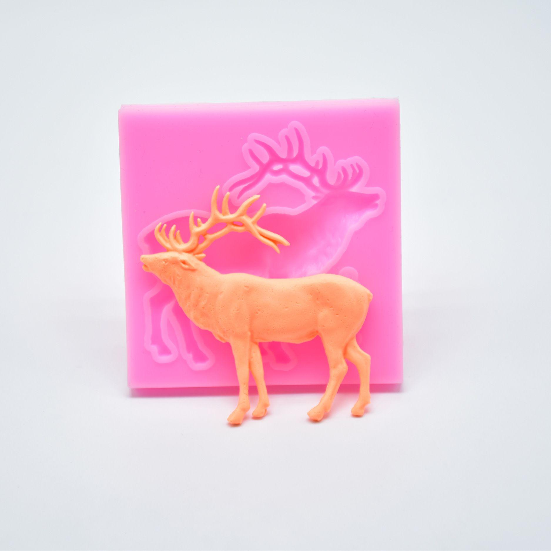 3D Sleeping Deer Silicone Fondant Mould Chocolate Sugarcraft Cake Mold DIY