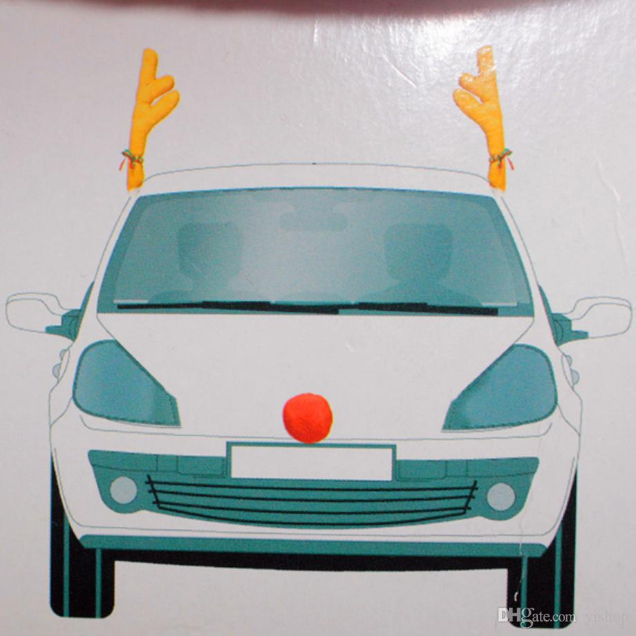 Car Decoration Kit Reindeer Antlers and Nose New Christmas