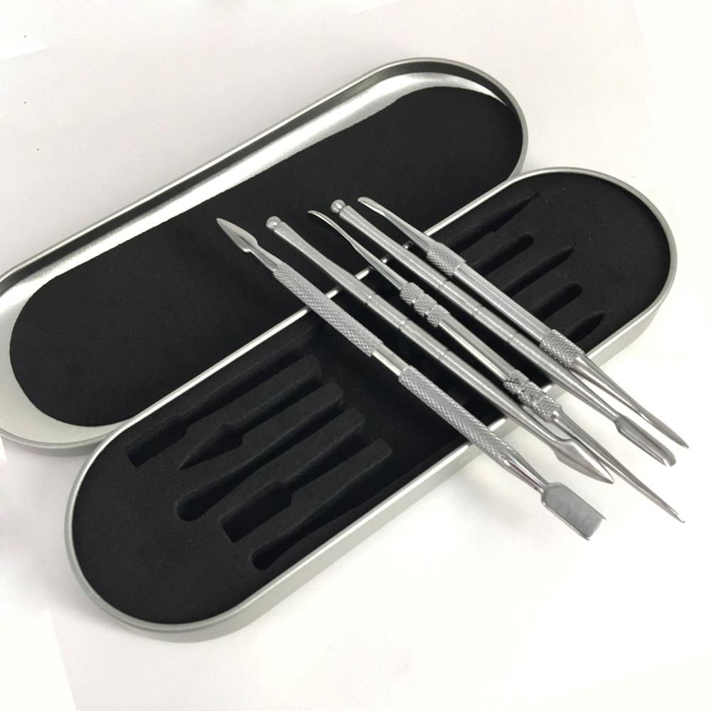 106-121mm dab aracı kiti Balmumu dabber aracı set Alüminyum kutu ambalaj vax atomizer kuru ot buharlaştırıcı Için titanyum tırnak dabber aracı kalem