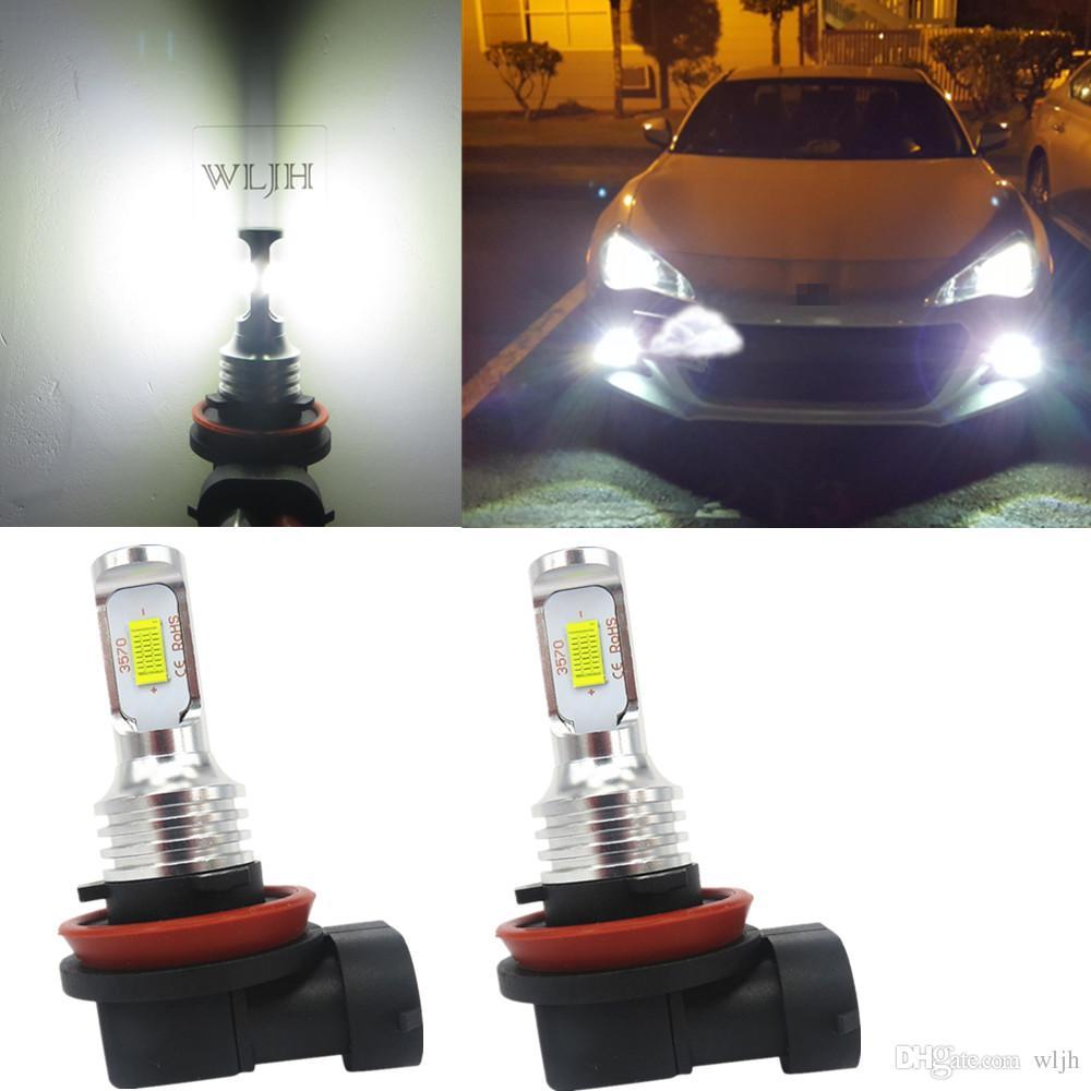 Wljh White Canbus H8 Led Fog Light Bulbs Led Bulb H9 H11 Fog Lamp Daytime Running Drl Light For 2016 Honda Civic Fog Light Kits For Cars Fog Light