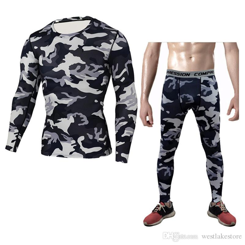 Nueva ropa interior térmica de alta calidad de los hombres nuevos conjuntos ropa interior de compresión sudor ropa interior térmica de secado rápido hombres ropa
