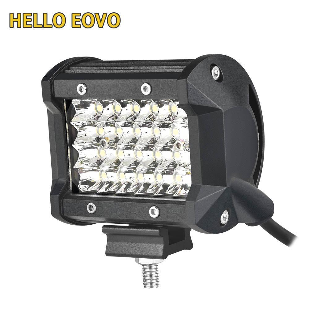 HELLO EOVO 4 pulgadas 4 filas LED barra Indicadores de barra de luz de trabajo LED Conducción de Offroad Barco Tractor camión 4x4 SUV ATV Envío gratis
