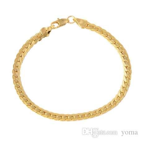 GWMIXI мужская мужская панк золотой браслет цепи браслет Браслет хип-хоп ювелирные изделия 3.28