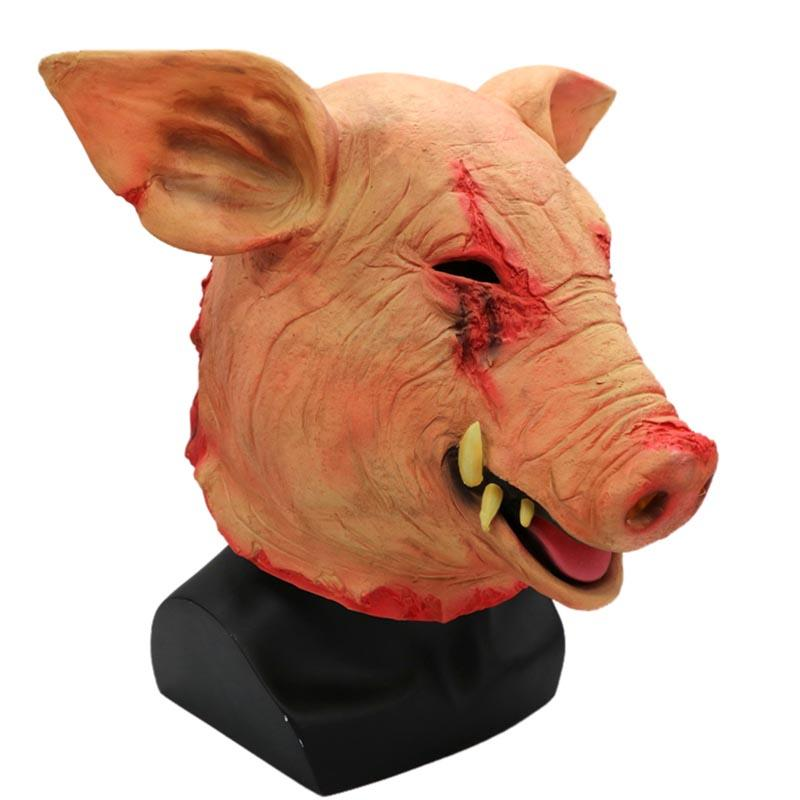 Adult Props Non-toxic Halloween Smoke Pig Cosplay Creepy Animal Prop Latex Party Unisex Scary Pig Head Mask Party Masks Products