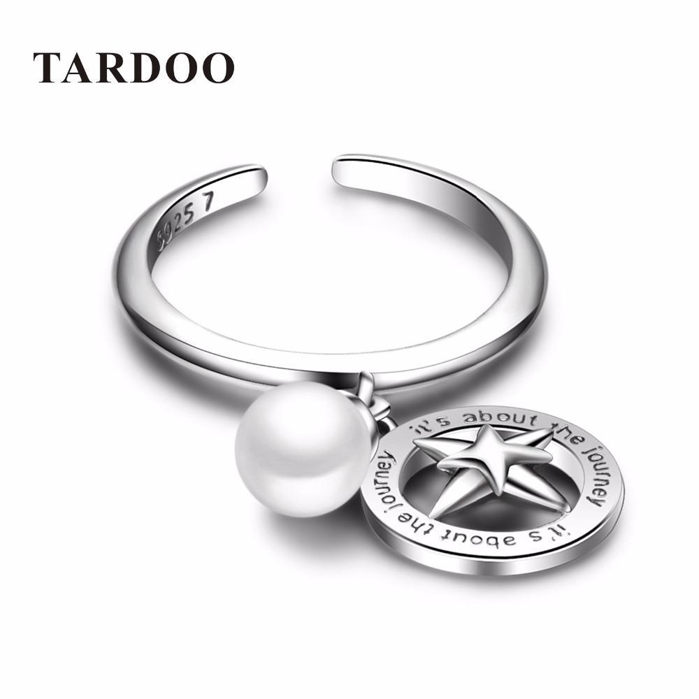 Tardoo инновационный романтический манжеты открыть стерлингового серебра 925 любовник кольца для женщин жемчуг значок подвески ювелирные изделия Y1892606