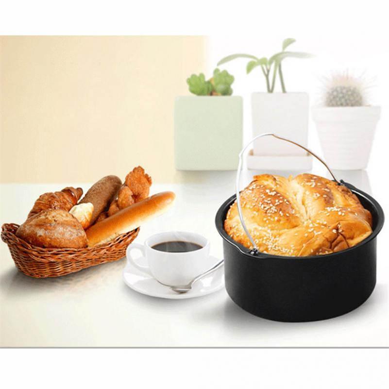 Кастрюли для посуды Домашние принадлежности для сковороды с воздухом Фритюрница из пяти частей Корзина для выпечки Тарелка для пиццы Коврик для гриля