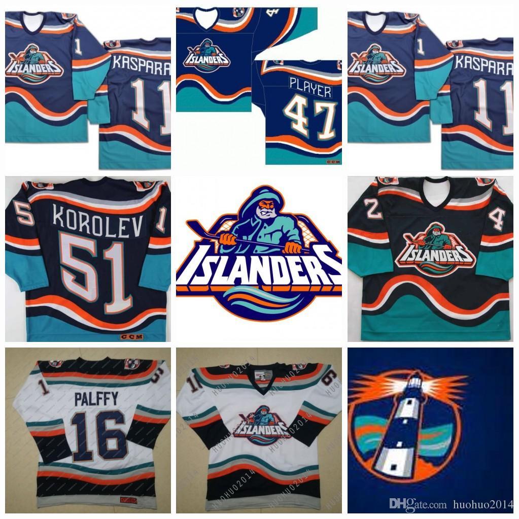 new arrival f9b31 05645 2019 #16 Ziggy Palffy New York Islanders Fisherman JohnTavares Korolev  Brent Severyn Beraro Darius Kasparaitis Hockey Jerseys From Huohuo2014,  $40.61 ...