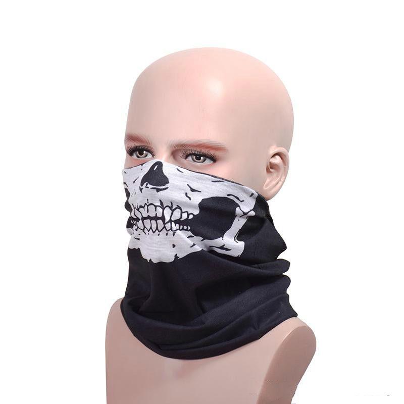 Masquerade For Men Cool Skull Design Party Masks Scarf Adults Multi Color Sport Motorcycle Biker Scarf Half Face Mask Sport Headband Masks