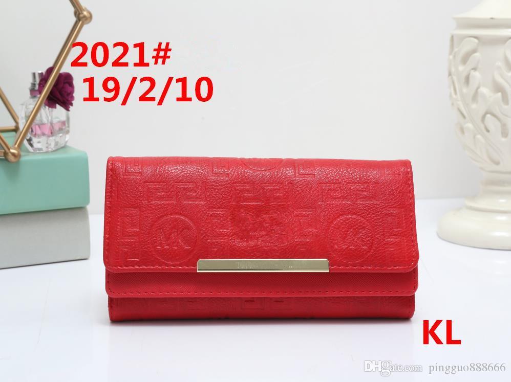 AAAAA2018, famosos diseñadores europeos y estadounidenses diseñan un bolso femenino súper largo con una cartera de múltiples tarjetas de alta calidad, tamaño: 19 * 2 * 10 cm.