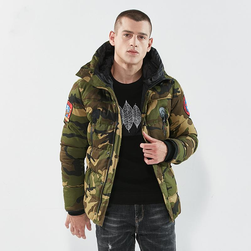 2018 Winter Camouflage Camo Jacket Men Bomber Pilot Jacket Thicken Warm Embroidery Army  Tactical Jacket Coat Parka Men