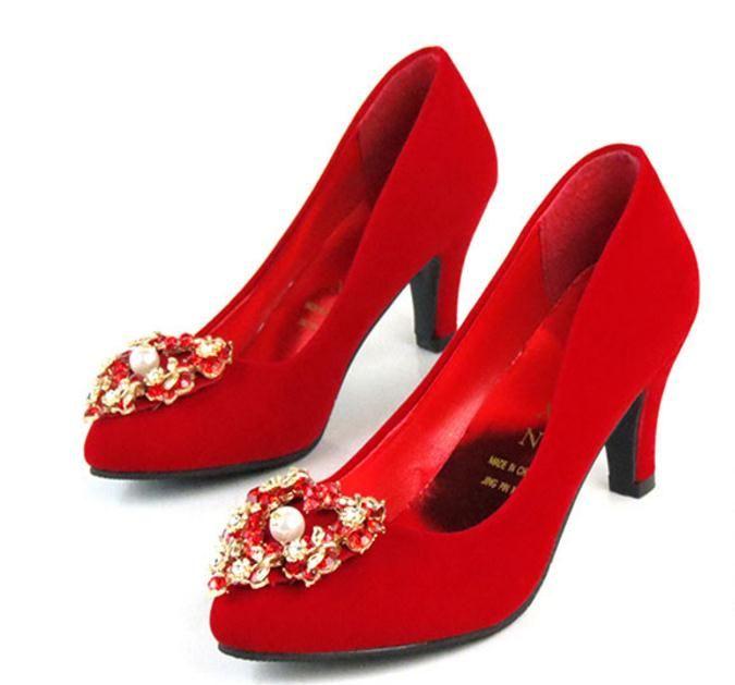 Invia Hot 2018 nuovo stile trapano ad acqua punta fine tacco alto scarpe da sposa rosso scarpe tacco alto sposa tacco 3 cm, 6 cm, 9 cm