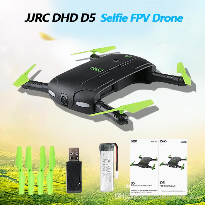 DHD D5 Selfie Drohne Mit Wifi FPV HD Kamera Faltbare Tasche RC Drohnen Telefonsteuerung Hubschrauber VS JJRC H37 Mini Quadcopter Spielzeug
