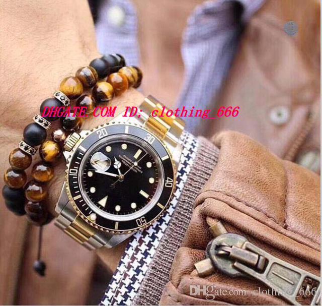 럭셔리 베스트 V7VersionTwo - 톤 18K 래핑 골드 남성 자동 시계 세라믹 베젤 에타 2836 운동 남자 스포츠 시계