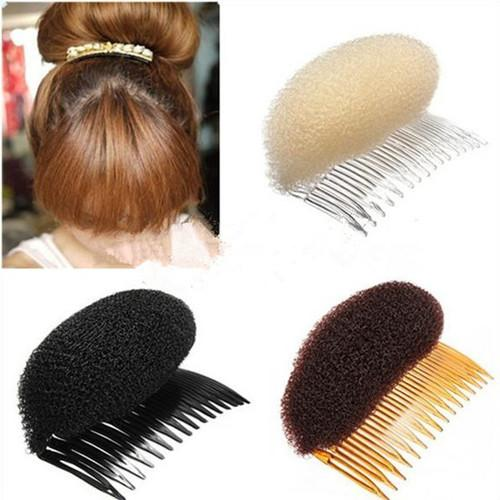 1 PCS Hair Styler Volume Bouffant Beehive Shaper Roller Bumpits Bump Foam On Clear Comb Xmas Accessories