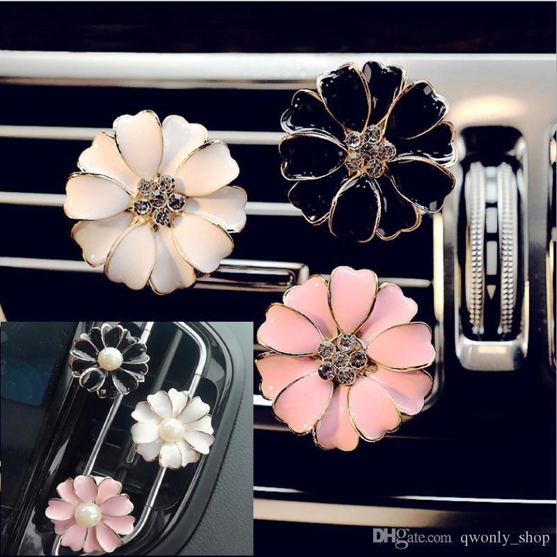 Car Perfume Clip Home Essential Oil Diffuser For Car Locket Clip Flower Car Air Freshener Conditioning Vent Clip 6styles