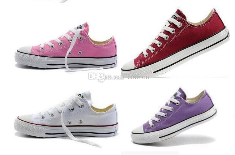 Neue Unisex Low-Top Erwachsene Frauen Männer Segeltuchschuhe 15 Farben geschnürt Freizeitschuhe Sneaker Schuhe Size35-46