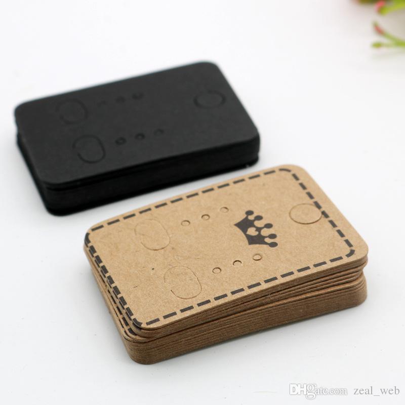 كرافت ورقة حلق حامل البطاقة حلق عرض بطاقات القرط علامة للأذن ترصيع الأقراط والمجوهرات التعبئة 4.5 * 3.2cm
