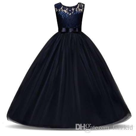 5-14 лет дети платье для девочек свадьба тюль кружева длинные девушки платье элегантный Принцесса партия театрализованное вечернее платье для подростков детей