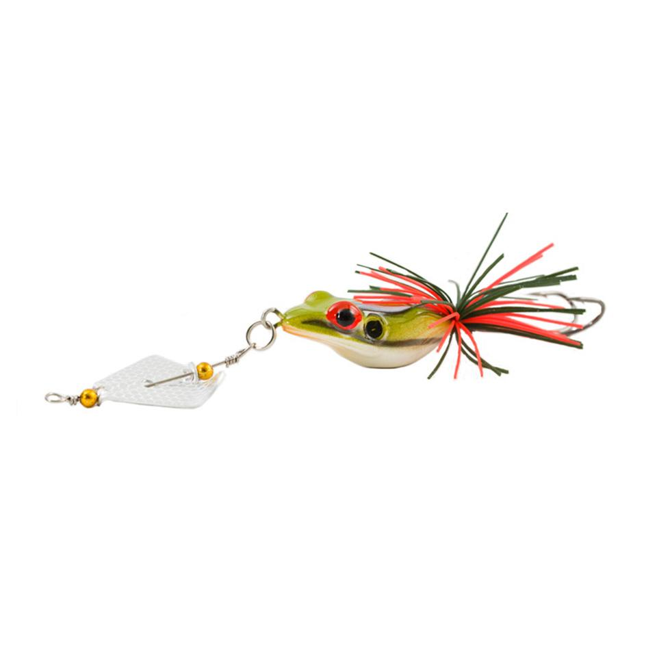 1PCS Iscas Artificiais Pesca Hard Fishing Lure With Large Noise Topwater Isca Frog Lure 140mm 11g Pesca Frog Y18100906