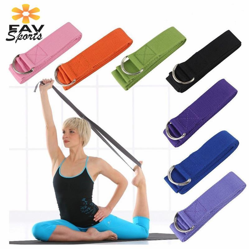 Women Yoga Elastic Stretch Belt Latin Dance Exercise Pull Strap Band Belts US