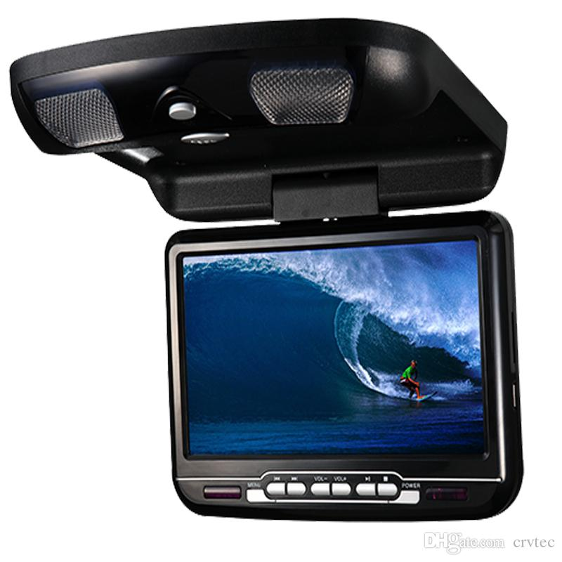 1piece 9 inch car flip down dvd monitor USB SD FM IR Game roof mount car dvd player black grey beige