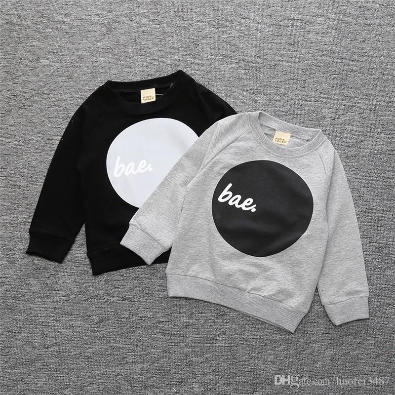Primavera Autunno Neonate Ragazzi Outwear Cotone Bambini Infant T Shirt Felpa Baby Boys Maglione Neonati maschi Tops 1-4Y