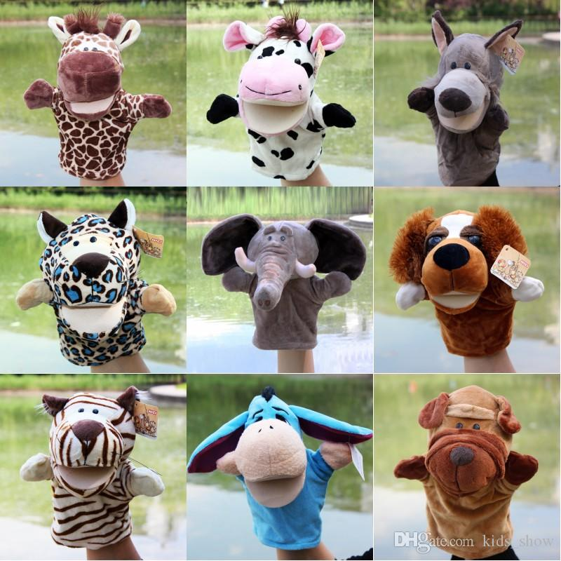 Animal Hand Puppet Plush Toys Child Baby Favorite Dolls Tell Story Puppets Cartoon Animals Doll Kids Toys