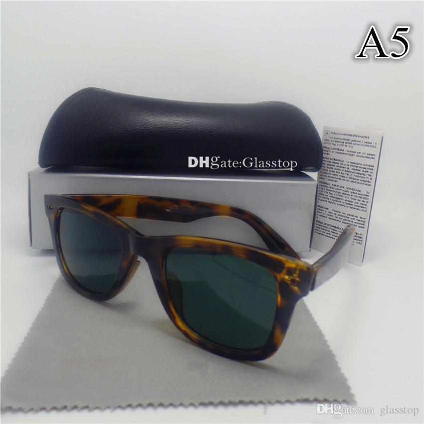 High Quality Men Women Sunglasses UV400 52MM Mixed Vintage Sun Glasses Leopard Mirror Brand Designer Fashion Eyewear Protecton With Box Case