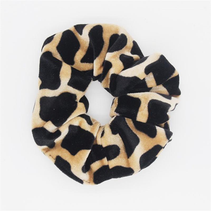 Frauen Leopard Haar Scrunchie Pferdeschwanz Halter Stretchy Elastisches Haarband