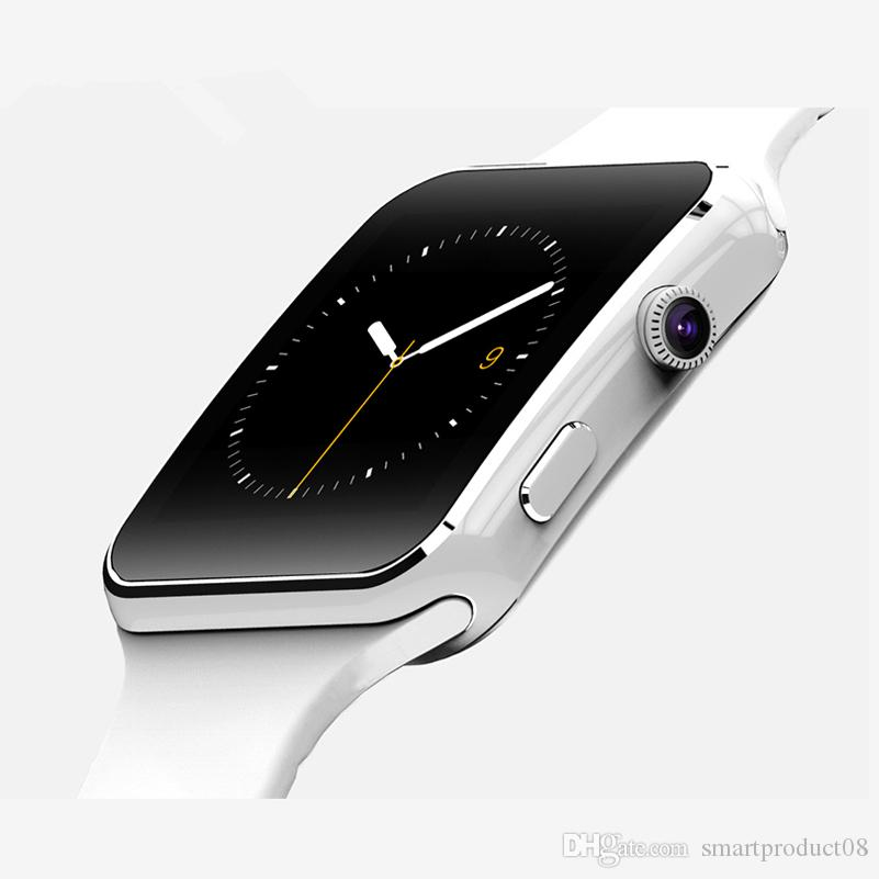 X6 Smart Watch with Camera Music Playing Support SIM TF Card for IOS Android Phone WristWatch Black White