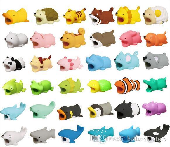 حار كابل لدغة 36 سكلات الحيوان دغة كابل حامي التبعي لعبة كابل لدغ الكلب خنزير الفيل axolotl لفون الذكي شاحن الحبل