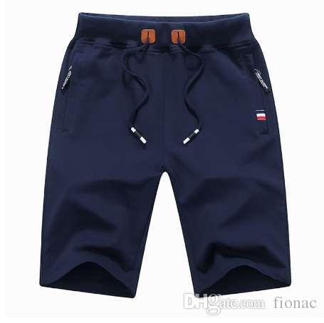 шорты мужчин хлопок летом Твердая мужские шорты Sweatpants лето плюс размер бермуды masculina