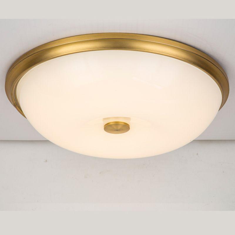 Lampada da soffitto a LED rotonda in rame Dia54cm moderna Plafoniera da camera da letto corridoio lampada da balcone luce corridoio cucina G584