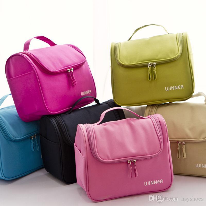 여자 패션 큰 화장품 가방 방수 전문 세면 용품 키트 워시 Necessaire 여행 주최 상자를 확인하십시오
