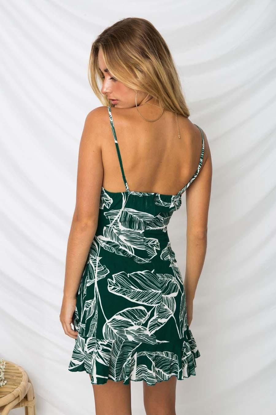 großhandel damen freizeit spaghetti bügel sommer sleeveless hippie flora  printed boho böhmischer a line kleid frau kurze kleider von dress_ch, 8,32  €