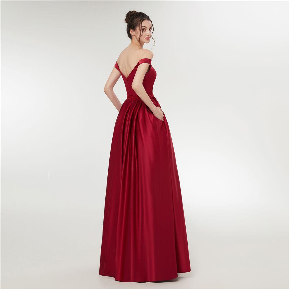 Großhandel Lange Abendkleider 10 Neue Formale Abendkleid Kleider Perlen  Günstige Damen Kleider Für Besondere Anlässe Abendgarderobe Von